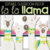La La Llama EDITABLE Classroom Decor GROWING BUNDLE