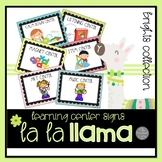 La La Llama Learning Center Signs MEGA SET