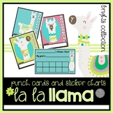 La La Llama Punch Cards and Sticker Charts