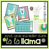 La La Llama Punch Cards and Sticker Charts