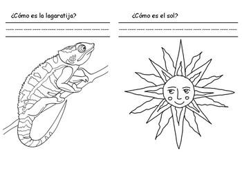 La Lagartija y El Sol Spanish Simple Descriptions
