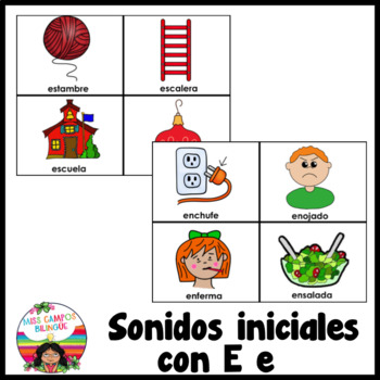 Letra E (Las Vocales) - Spanish Flashcards for the Letter E
