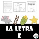 La Letra E (Spanish Letter E Practice)