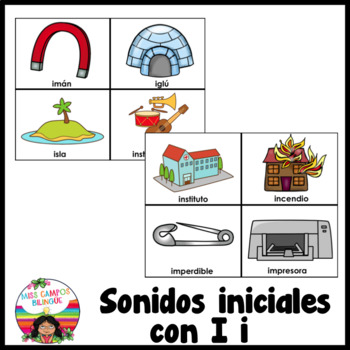 Letra I (Las Vocales) - Spanish Flashcards for the Letter Ii