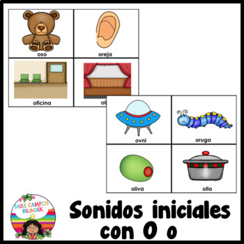Letra O (Las Vocales) - Spanish Flashcards for the Letter O