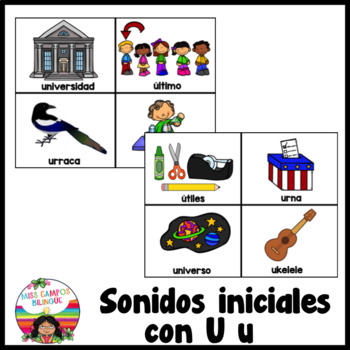 Letra U (Las Vocales) - Spanish Flashcards for the Letter U