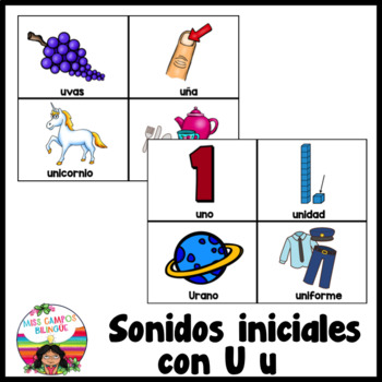 Letra U Las Vocales Spanish Flashcards For The Letter U 1280025 on English For Grade 5