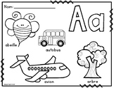 La Lettre Initiale:  French Alphabet Colouring Posters