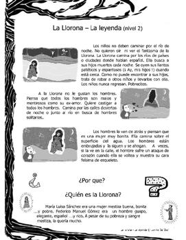 La Llorona – La leyenda lecturas en dos niveles