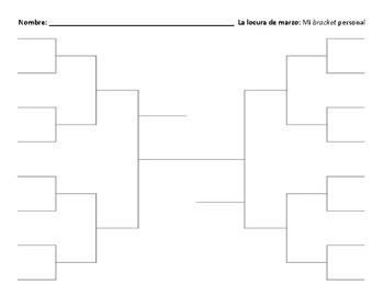 La Locura de Marzo: Bracket Prediction Sheet