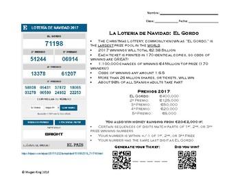 La Lotería Nacional Español / Spanish Lottery 2017 / El Gordo