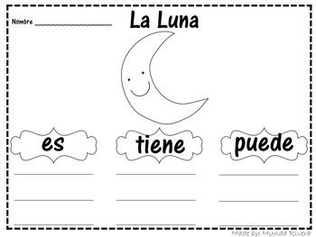 La Luna, el Sol y la Tierra (Moon, Sun & Earth in Spanish)