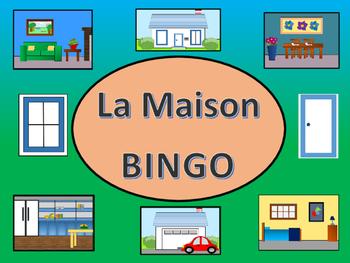 La Maison BINGO – French House Vocabulary