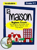 La Maison - Beginner French Vocabulary Activities and Quiz (Houses and Homes)