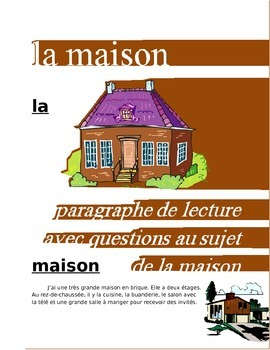 La Maison FRENCH Reading on the House