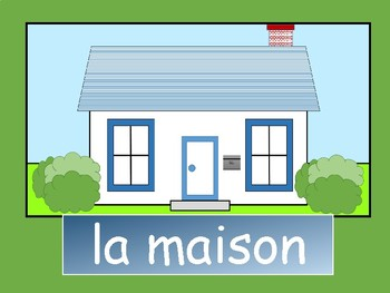 La Maison – French House Vocabulary Presentation and Board Game