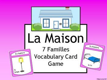La Maison - Les 7 Familles French House Vocabulary Card Game