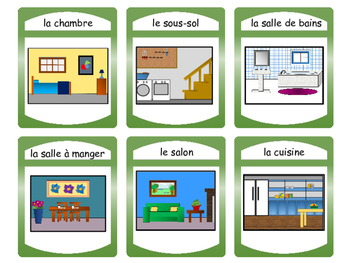 La Maison -Spoons Card Game-The House Vocabulary in French