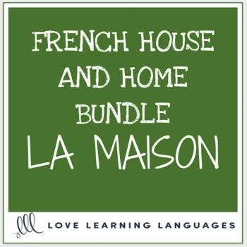 Bundle and Save: La Maison - Vocabulary Speaking Activities 4-PACK