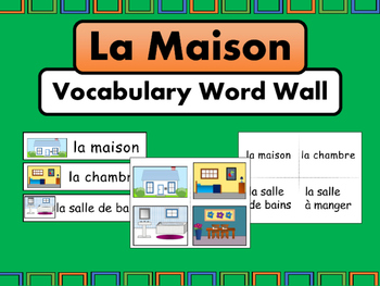 La Maison Vocabulary Word Wall The House Vocabulary In French By