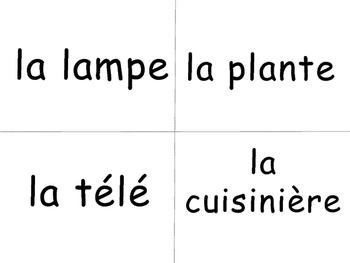 La Maison Vocabulary Word Wall - The House Vocabulary in French