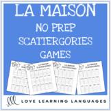 La Maison printable no prep scattergories game - French vo