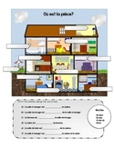 La Maison with prepositions -  with word search - FSL/FLE/ FRENCH
