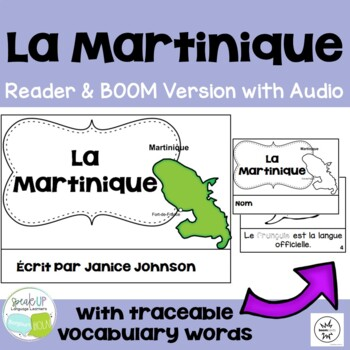 La Martinique French Reader & Vocab work ~ Simplified for