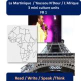 La Martinique (1) / Youssou N'Dour (2), L'Afrique (3) / mi