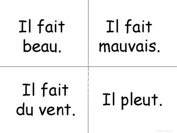 La Météo-Weather Vocabulary Word Wall in French