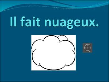 La Meteo/Weather Vocabulary Flashcards