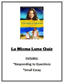 La Misma Luna (Under the Same Moon) Movie Quiz