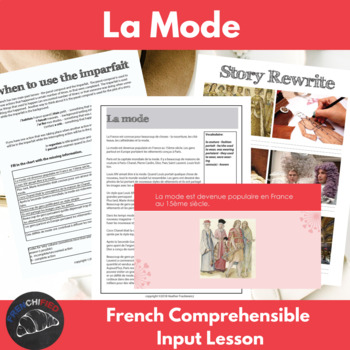La Mode - comprehensible input lesson for French learners