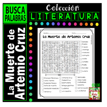 La Muerte de Artemio Cruz  -Word search