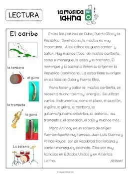 Spanish/Latin Music Appreciation Activity Packet