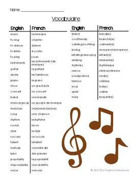 """La Musique - A French """"Music"""" Themed Unit"""