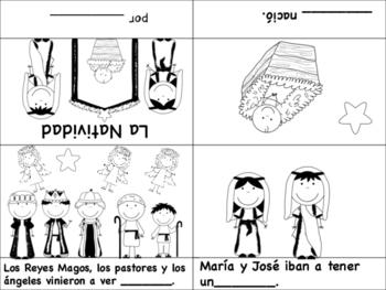 La Natividad Spanish Christmas Mini Books - Spanish, Bilingual Dual Language