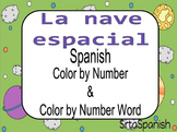 Spanish Color by Numbers and Number Words