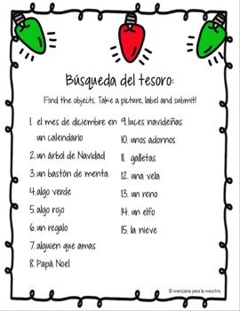 La Navidad Actividades Spanish Activities for Christmas