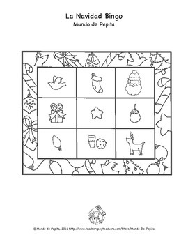 La Navidad Bingo Printable Spanish Game