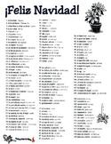 La Navidad Christmas Spanish Vocabulary Page