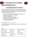 La Navidad/ Christmas in Spanish Webquest-3-Day Activity