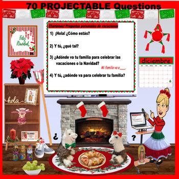 LA NAVIDAD - Questions, Vocabulary, & Spanish Christmas Activities for diciembre