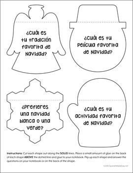 La Navidad: Spanish Interactive Notebook Questions