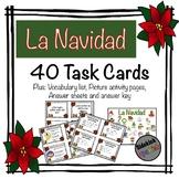 La Navidad Task Cards - Christmas Vocabulary in Spanish