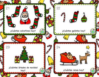 La Navidad Christmas Task Cards Printable Spanish Activity