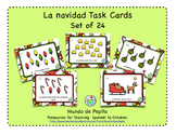 La Navidad Christmas Task Cards Printable Spanish Activity
