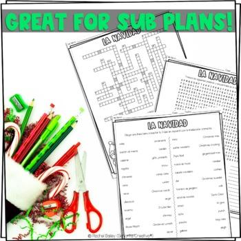 La Navidad Vocab Puzzles (Christmas Wordsearch and Crossword)