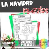 La Navidad Vocab Puzzles | Christmas | Word Search and Crossword