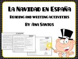 La Navidad en España- reading and writing activities